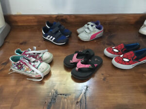 Variety of kids shoes for sale - Sketchers, Pumas, Adidas, Sanuk