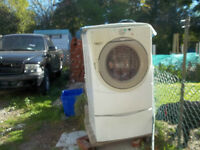 White whirlpool Double Front Load Washer