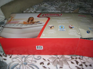 Coleman quick fill raised queen air bed, with pump
