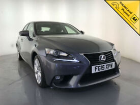 2015 LEXUS IS 300H EXECUTIVE EDITION AUTO HYBRID 1 OWNER SERVICE HISTORY