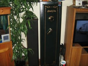 Combination Lock Stack on Gun Cabinet