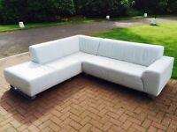 White Italian Leather Suite