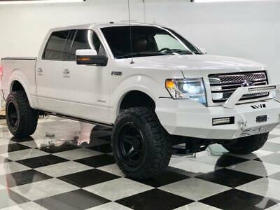 2013 Ford F-150 Platinum 4x4 4dr SuperCrew Styleside 6.5 ft. SB lifted platinum ford f-150 red leather
