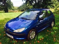 2003 Peugeot 206 style 1.1 petrol low miles cheap for quick sale