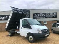 2013 FORD TRANSIT T350 2.2 TDCI LWB TIPPER DROPSIDE TIPPING BODY PICK UP FSH TOW