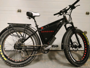 Four seasons, hot roded electric assist Sondors Fat bike