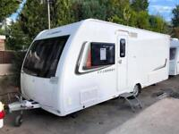 2014 Lunar Clubman SI 4 Berth Caravan FIXED ISLAND BED, MOTOR MOVER, Bargain !