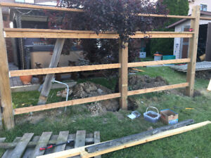 Fence post digging service - post hole services #1 rates