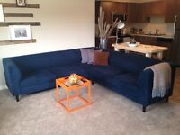 """2PC EQ3 """"REPLAY"""" SECTIONAL COUCH (Navy)"""