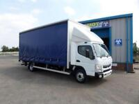 Mitsubishi Canter 7C18 47 20ft Curtainsider with Tail Lift Automatic