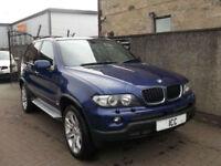 """06 56 BMW X5 3.0D LE MANS BLUE SPORT AUTO 20"""" ALLOYS BLACK LEATHER 7 STAMPS A/C"""