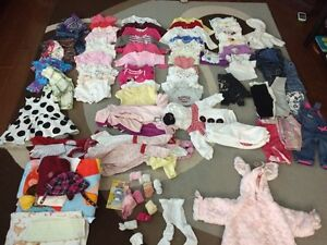 Baby girl clothing 0 - 12 months.