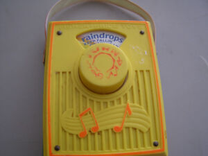 Vintage Fisher Price Wind Up Radio