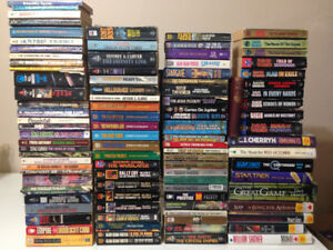 Large Lot of Sci-Fi & Fantasy Books for Sale