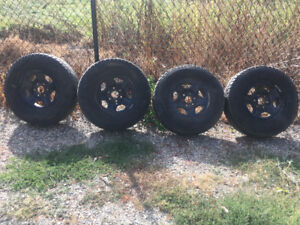 GM 6-bolt steel wheels and tires