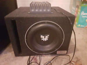 Car stereo subwoofer and amp