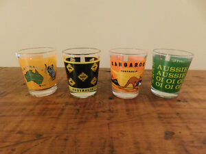 Vintage Australia Shot Glasses