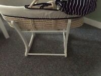 Mothercare Moses Basket with Rocking Stand