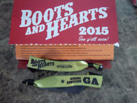 2 Boots and Hearts Wristbands $300/ea