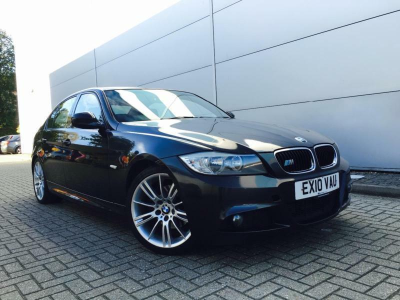 2010 10 reg bmw 320d m sport 4dr saloon black auto automatic lci facelift in watford. Black Bedroom Furniture Sets. Home Design Ideas