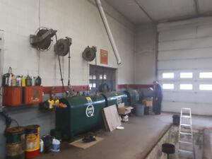 Bulk oil tanks pumps and hose reels