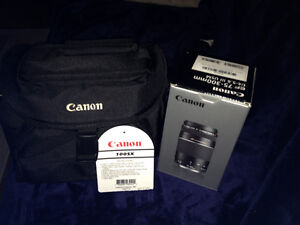 Canon camera bag and lens