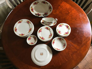 Cottage Rose Ironstone Wood and son England Dishes