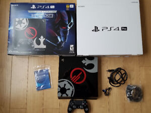 PS4 pro with controller, box, all hookups