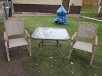 Metal Bistro Set $20.00 Dollars Firm Great For Next Year