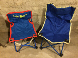 3 Cute kids camp/folding chairs - all for $5