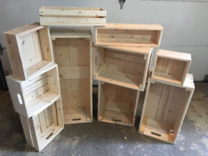 Wood crates and boxes various prices