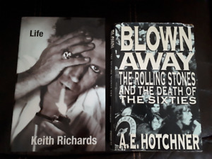 Keith Richards - Life + Blown Away - Rolling Stones books
