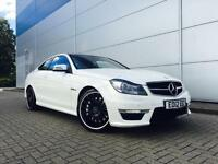 2012 Mercedes-Benz C63 AMG 6.3 7G-Tronic AMG Edition 125 COUPE + WHITE +BIG SPEC