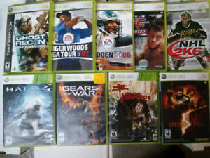 Xbox 360 video game lot of 9 $25