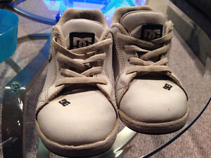 DC kids white shoes with leather uppers - size 10 Edmonton Edmonton Area image 1