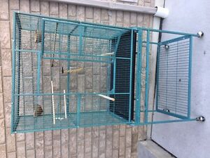 large bird cage c/w stand