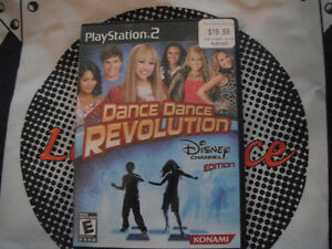 Playstation 2 Dance Dance Revolution Disney With Mat