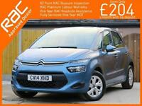 2014 Citroen C4 Picasso 1.6 HDI Turbo Diesel VTR 5 Speed MPV Bluetooth Climate C