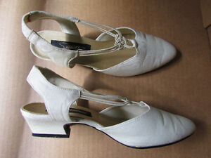 Ivory Sling-Back 1.5-inch Heel Dress Shoe