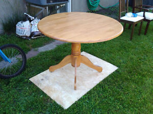 Real wood round table