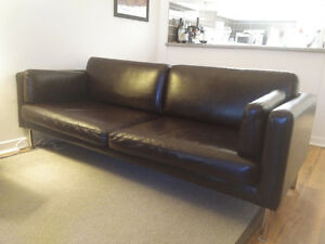 Clean, used leatherette couch! Great condition!
