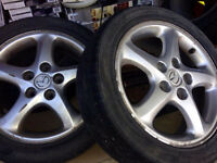 """4 Mazda Alloy Wheels 16"""" (from '01 Protege) 5 x 114.3"""