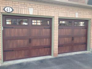 2- 9x8 Mahogany Woodtone Garage Door