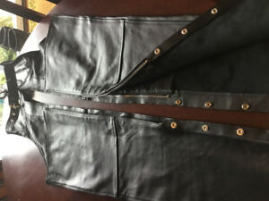 Never worn Ladies size M  bike chaps