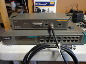 D-Link  10/100 Switch and 16 port hub