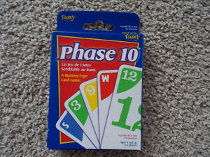 Phase 10 -card game (NEVER OPENED)!