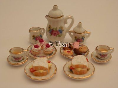 Dolls house food - Afternoon tea for two  -By Fran