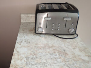 Excellent Condition 4 slice Toaster in stainless steel