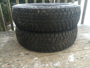 Two 225/65R17 Winter Tires Excellent Tread