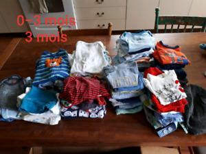 Lot de vêtements pour garçons 0-18mois